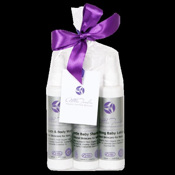 Organic Baby Bathing Gift Set - Award Winning Organic Baby Grooming Products