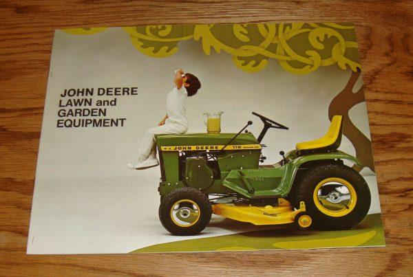 Original 1969 John Deere Lawn & Garden Equipment Sales Brochure 69 Tractor Mower