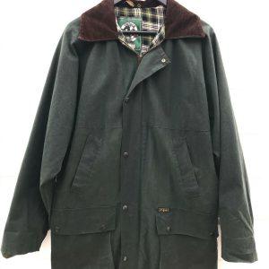 Original Outdoor Wear OXFORD BLUE Wachs Wetter Regenjacke Gr.S UK 38 England