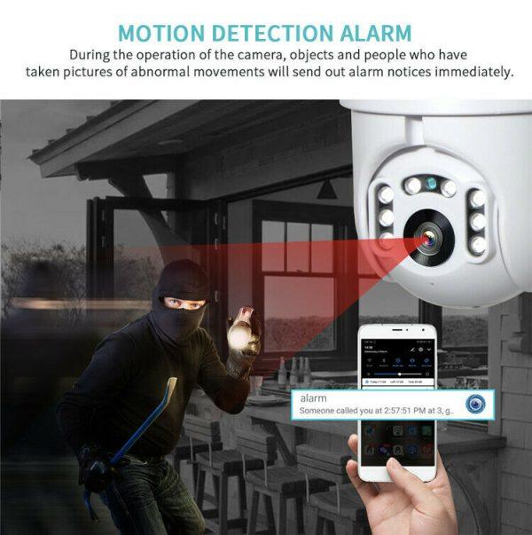 Outdoor Security Surveillance Camera NVR 2-Way Audio WiFi Waterproof Mobile App
