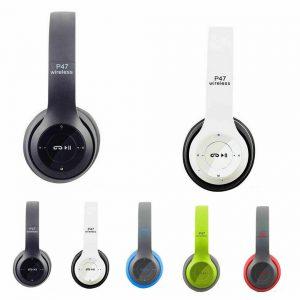 P47 Wireless Bluetooth Kids Over-Ear Headphones Earphones for iPad/Tablet/Phones