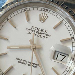 Rolex Datejust 16220 (1989) + Papieren, Doos, Rolex Garantie, Alles Origineel.