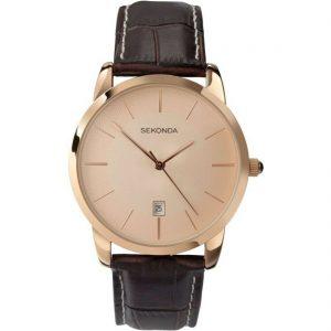 Sekonda Gents Leather Strap Watch - 3471-X-SNP
