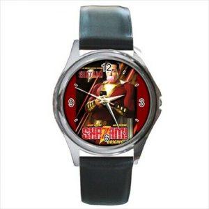 Shazam leather  strap  watch  /wristwatch