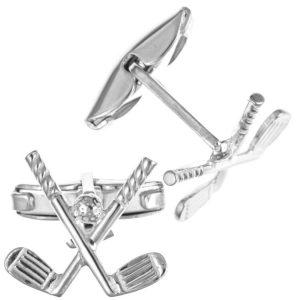 Sterling Silver Novelty  Golf Clubs Cufflinks Men's Accessories  Jewellery