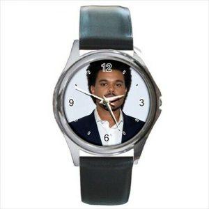 The Weeknd  leather strap  watch  /wristwatch