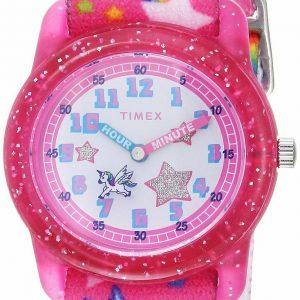 Timex TW7C25500, Kid's Time Machines Pink Elastic Watch, Unicorn, Time Teacher