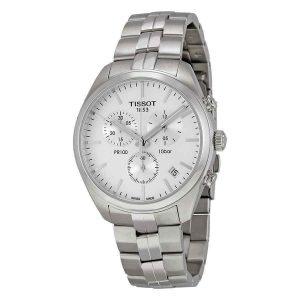 Tissot PR 100 Chronograph White Dial Men's Watch T1014171103100