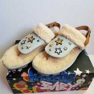 UGG Fashion Baby Patch It Sandals Sheepskin Women's 10 NEW