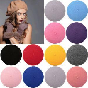 Unisex Men Women Wool Warm Beret Beanie Hat Cap French Style New Fashion