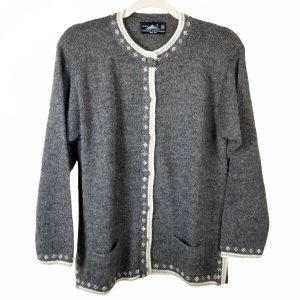 Vicunas Fashion 100% Baby Alpaca Peruvian Button Front M Sweater Cardigan SOFT