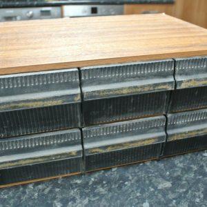 Vintage 1980s Computer Cassette Tape Game Storage for 72 Cassettes