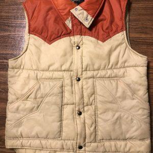Vintage Western Outdoor Wear Sears Puffer Vest  Snap Front Read Below.