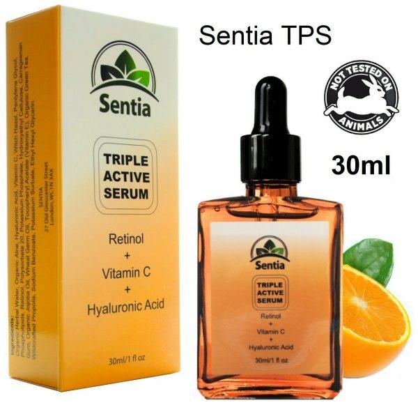 Vitamin C, E, Retinol Face Serum. Anti Ageing Facial Skincare. Wrinkles & Scars.