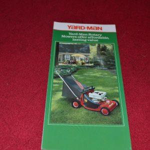 Yardman Lawn & Garden Equipment Dealers Brochure YABE13